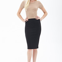 FOREVER 21 Ribbed Pencil Skirt