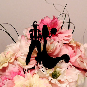 Fireman and Seductive Lady Cake Topper