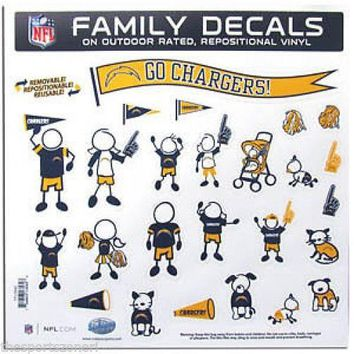 San Diego Chargers Family Decals Set of 25