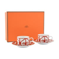Hermes GUADALQUIVIR Tea Cup and Saucer set