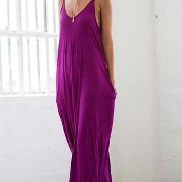 The Mila Maxi Dress - Magenta