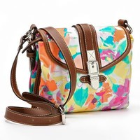 Chaps Tropical Multicompartment Cross-Body Bag