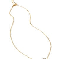 FOREVER 21 Rhinestoned Bauble Pendant Necklace Gold/Clear One