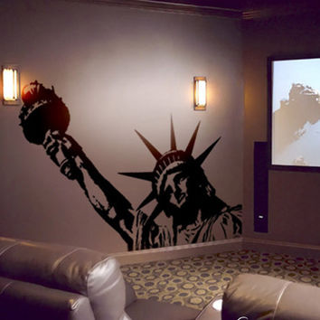 BIG Statue of Liberty Vinyl Wall Decal Sticker #122
