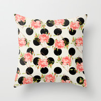 MIXED FLORAL Throw Pillow by Allyson Johnson