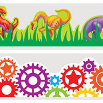 30' robot and dinosaur bulletin board boarders Case of 48
