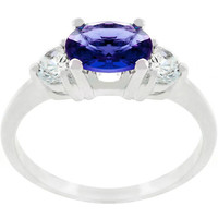 Oval Cubic Zirconia Maestro Ring, size : 10