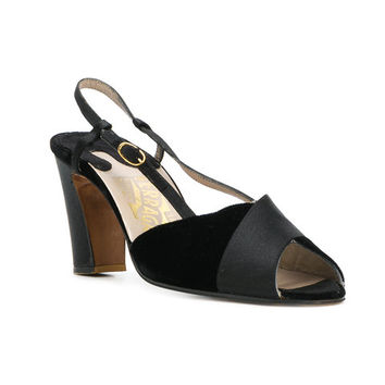 Salvatore Ferragamo Vintage Peep Toe Sandals - Farfetch