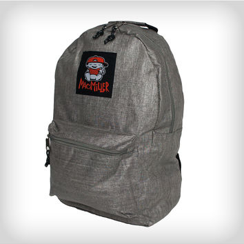 Mac Miller Kid Logo Grey Backpack from Spencers Gifts  7e228b6ed7967