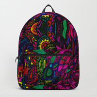 Psychedelic Illusions Intense Colors Pattern Backpacks by Zurine