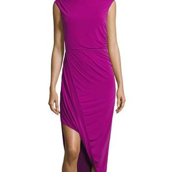 Tahari ASL Katrina Sleeveless Dress, Orchid