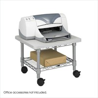 Under Desk Printer Stand Cart with Paper Shelf & Locking Casters