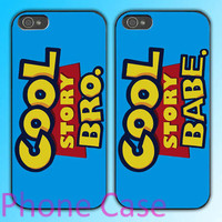 cool story babe and bro couple romantic design Couple love case for iPhone 4 case and iPhone 5 case.