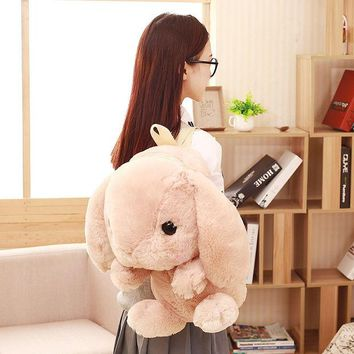 ONETOW Cute Rabbit kids backpack toy plush animal backpack for children The kids shoulder bag