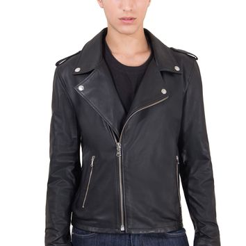 Men's Leather Biker Jacket | Made In Italy