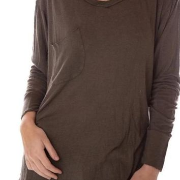 Magnolia Pearl Top 598 	Cotton Linen Long Sleeve Sofiane T~Shading