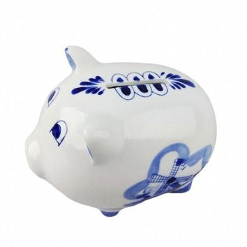Ceramic Piggy Banks Blue and White