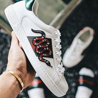 :Gucci:Trending Fashion Casual Sports Shoes Snake