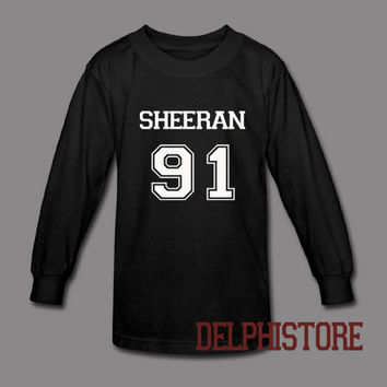 ed sheeran shirt t shirt tshirt tee shirt printed long sleeve black and white unisex size (DL-104)
