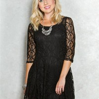 BeBop Geo Lace Skater Dress