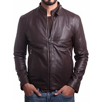 Jordan Mens Leather Jacket