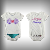 Monksies™ Custom Print One Piece Baby Body Suit (Onsies) - Mermaid in Training