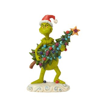 Jim Shore Grinch with Santa Scene Figurine New with Box