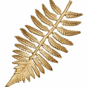 Leaf-shaped tray - Gold-coloured - Home All | H&M GB