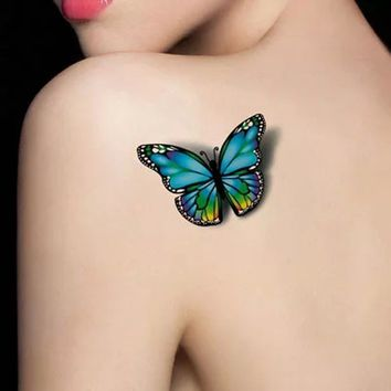 3D Tattoo Sticker On the Body Art Chest Shoulder Stickers Glitter Temporary Tattoos Removal Fake Style Transfer Tattoo