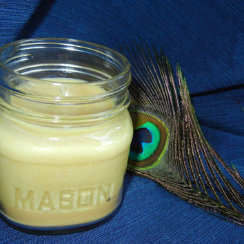 Buttered Popcorn Scented Soy Candle in Authentic Mason Jar