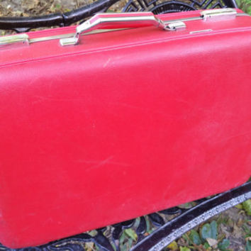 "Cherry Red American Tourister 24"" Suitcase"