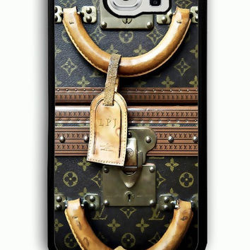 Samsung Galaxy S6 Case - Rubber (TPU) Cover with Louis Vuitton Vintage luggage Rubber case Design