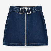 Double Buckle Denim Skirt | Topshop