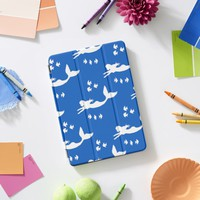 Mermaids Pattern Blue and White iPad Cover