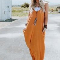 Perfection Pocket Maxi Dress - Mustard