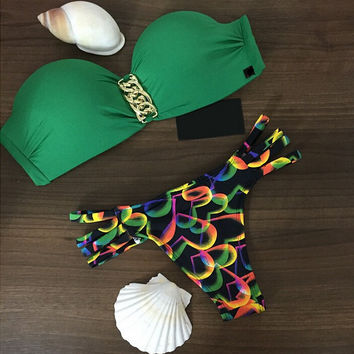 Green Bikini Set Beach Swimsuit Summer Gift 180