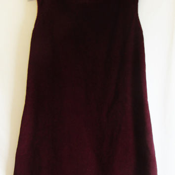 Vintage Oxblood Corduroy Shift Dress