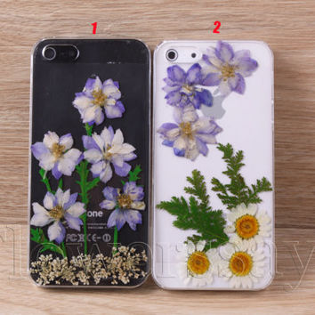 iPhone 6 case iPhone 6 plus Pressed Flower, iPhone 5/5s case, iPhone 4/4s case,  5c case Galaxy S4 S5 Note 2 note 3 Real Flower case NO:F90