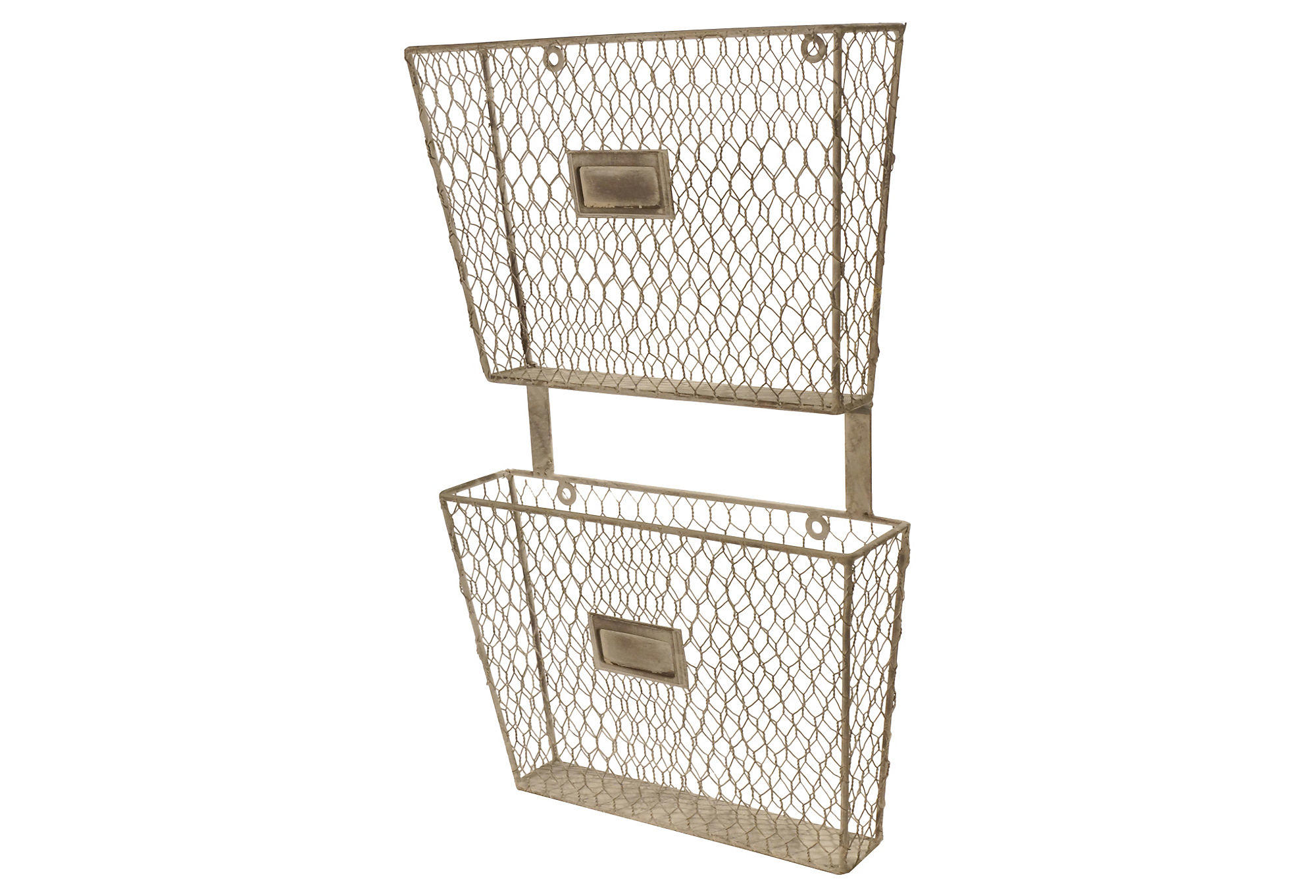 Metal 2-Tier File Holder, Wall Storage & from One Kings Lane
