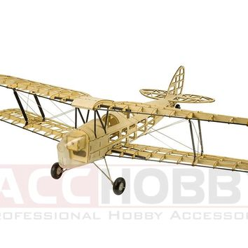 2018 New De Havilland DH82a Mini Tiger Moth RC Plane Biplane 980mm Wingspan Laser Cut Balsa Kit Woodiness model /WOOD PLAN