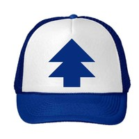 New Curved Bill 'BLUE PINE TREE' Dipper Gravity Falls Cartoon Hat Cap Trucker