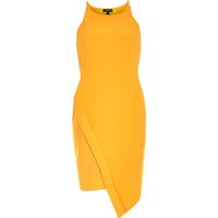 River Island Womens Orange crepe bodycon wrap skirt dress