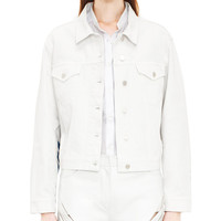 Acne Studios Tram Stripe White Denim