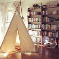 RENTAL Handmade Giant Canvas Teepee 8ft