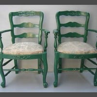 Pair of Country French Armchairs - Antique furniture - Furniture