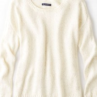 AEO Women's Shimmery Crew Sweater