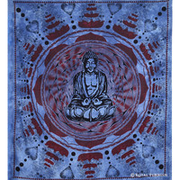 Blue Indian Buddha Tapestry Wall Hanging Decorative Art