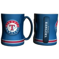 Texas Rangers MLB Coffee Mug - 15oz Sculpted (Single Mug)