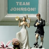 #1 Fan Cheering Bride Figurine Mix & Match Cake Toppers