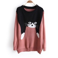 Cat Sweater from Seek Vintage